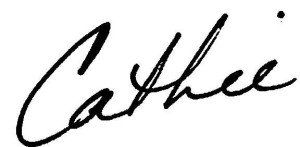 Cathie Signature - First Name Only
